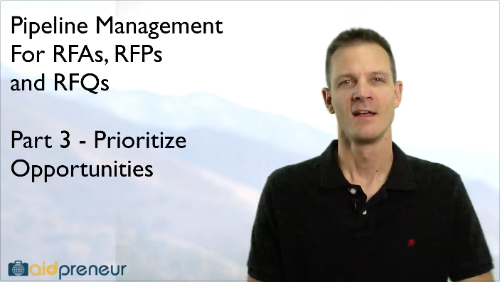 Part 3 of Pipeline Management for RFAs, RFPs and RFQs