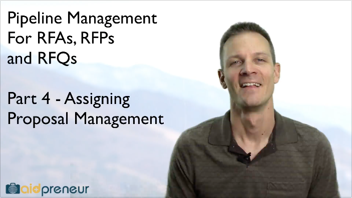 Part 4 of Pipeline Management for RFAs, RFPs and RFQs