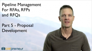 Part 5 of Pipeline Management for RFAs, RFPs and RFQs