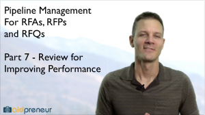 Part 7 of Pipeline Management for RFAs, RFPs and RFQs