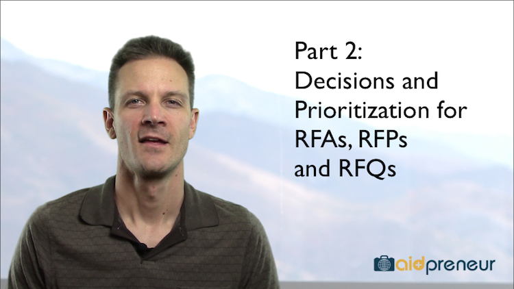 Part 2 of Decisions and Prioritization for RFA RFP RFQ