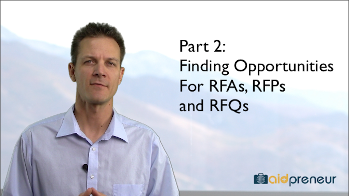 Part 2 of Finding Opportunities for RFAs, RFPs and RFQs