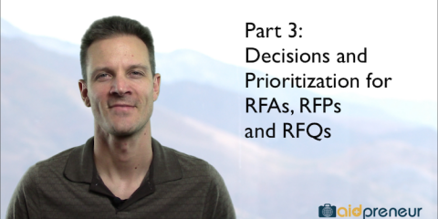 Part 3 of Decisions and Prioritization for RFA RFP RFQ