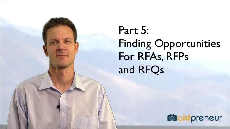 Part 5 of Finding Opportunities for RFAs, RFPs and RFQs