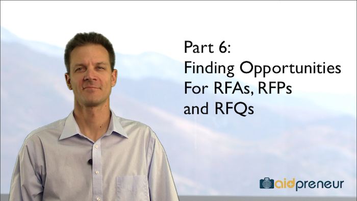 Part 6 of Finding Opportunities for RFAs, RFPs and RFQs