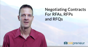 Introduction to Negotiating Cont RFAs, RFPs and RFQs