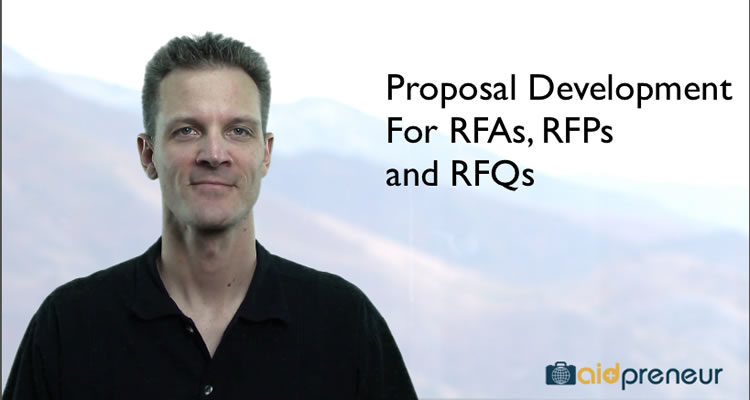 Introduction to Proposal Development for RFAs, RFPs and RFQs