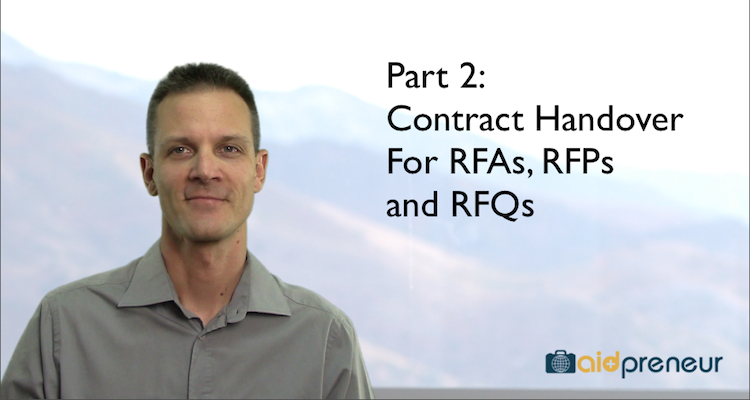 Part 2 of Contract Handover for RFAs, RFPs and RFQs