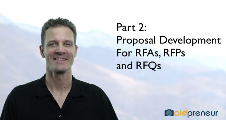 Part 2 of Proposal Development for RFAs, RFPs and RFQs