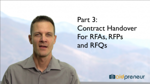 Part 3 of Contract Handover for RFAs, RFPs and RFQs