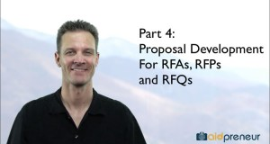 Part 4 of Proposal Development for RFAs, RFPs and RFQs