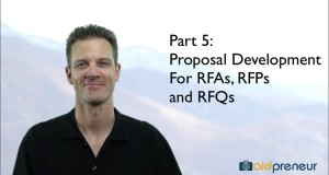 Part 5 of Proposal Development for RFAs, RFPs and RFQs