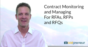 Introduction to Contract Monitoring and Managing for RFAs, RFPs and RFQs