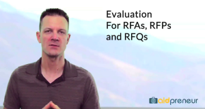 Introduction to Evaluation for RFAs, RFPs and RFQs