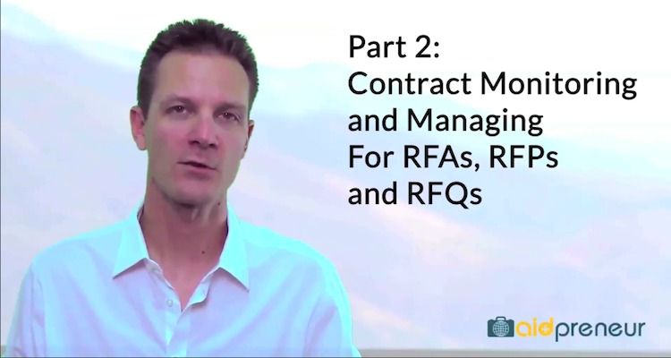 Part 2 of Contract Monitoring and Managing for RFAs, RFPs and RFQs