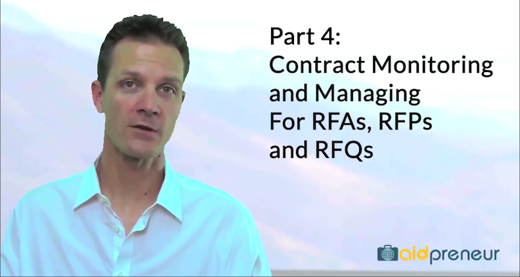 Part 4 of Contract Monitoring and Managing for RFAs, RFPs and RFQs