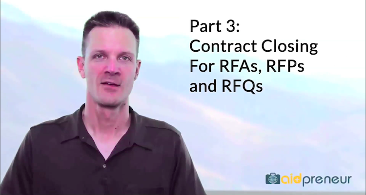 Part 3 of Closing for RFAs, RFPs and RFQs